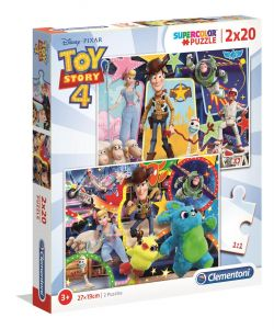Puzzle Clementoni  2x20 dílků  - Toy Story 4    2v1   24761