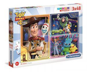 Puzzle Clementoni  - 3 x 48 dílků  -  Toy Story 4     25242
