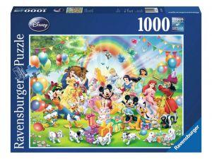 Puzzle Ravensburger 1000 dílků - Disney - Mikiho narozeniny  190195