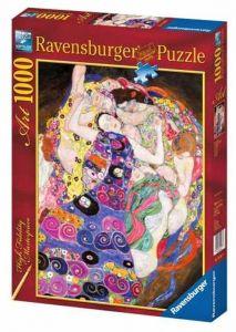 puzzle Ravensburger 1000 dílků - Gustav Klimt - Dívka na plátně  155873