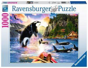 Puzzle Ravensburger 1000 dílků - Kosatky u pobřeží  152704
