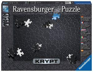 Puzzle Ravensburger 736 dílků - Krypt - černá  barva  152605
