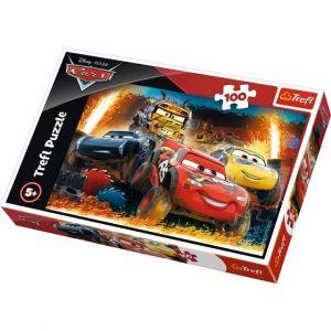 Puzzle Trefl 100 dílků - Cars - Extrémní závod 16358