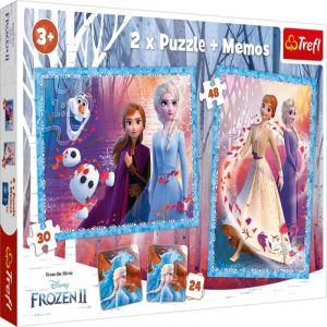 Puzzle Trefl  30 + 48 dílků + hra Memos ( pexeso ) Frozen II   90814