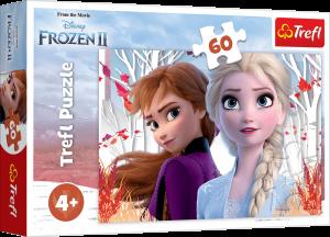Puzzle Trefl 60 dílků  - Frozen II  - kouzeln svět Anny a Elsy  17333