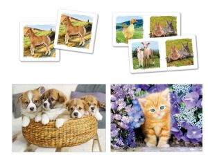 Super Kit puzzle Clementoni 2x30 dílků + Domino + Memos ( pexeso ) - Animals - zvířata 20240