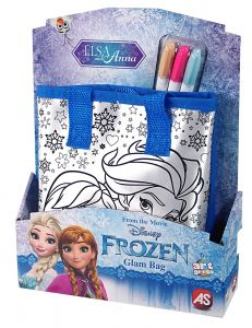 Taštička k vymalování + 3 fixy - Frozen - Ledové království