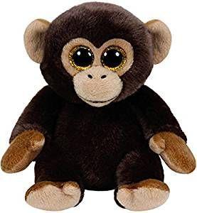 TY Beanie Boos - Bananas - hnědá opice     42111 - 15 cm plyšák