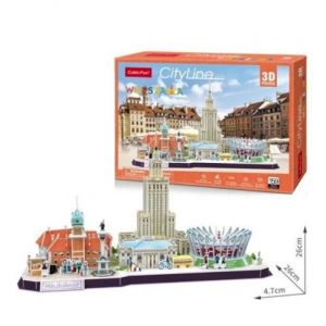 3D puzzle CubicFun CityLine - Waršava  126 dílků