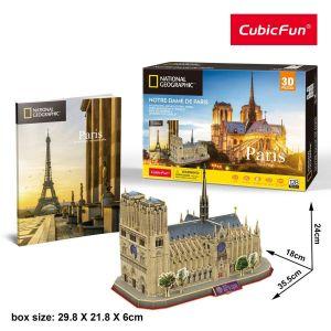 3D puzzle CubicFun Notre Dame  128 dílků NG