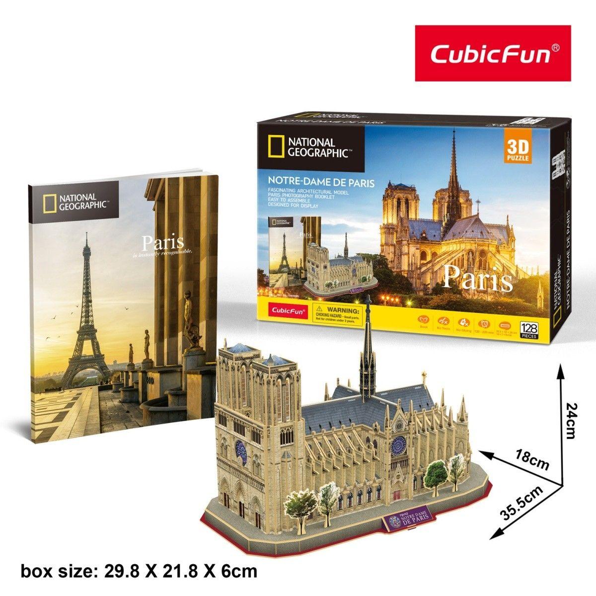 3D puzzle CubicFun Notre Dame 128 dílků NG Cubic Fun