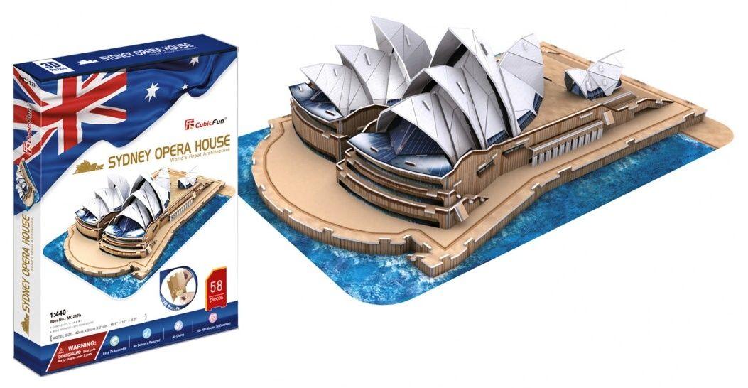 3D puzzle CubicFun Opera v Sydney - velká sest. 85 dílků Cubic Fun