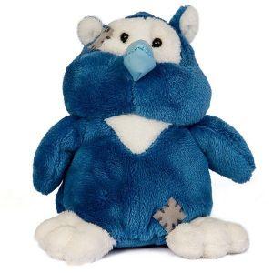 CARTE BLANCHE  - My blue nose - modrá Sova  10 cm plyšová