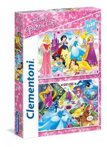 Clementoni  puzzle  2x20 dílků  - princezny  2v1 -   24751