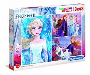 Dětské puzzle Clementoni  - 3 x 48 dílků  -  Frozen II    25240