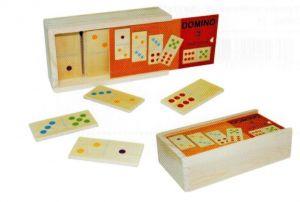 Dřevěné domino v dřevěné krabičce - classic