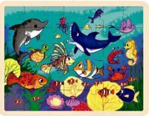 Dřěvěné puzzle Brimarex - Top Bright  - 35 dílků - útes    40 x 30 cm