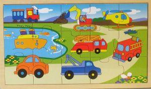 Dřěvěné puzzle Brimarex - Top Bright  - 15 dílků - doprava   30 x 15 cm