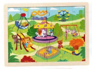 Dřěvěné puzzle Brimarex - Top Bright  - 20 dílků - hřiště   30 x 22 cm