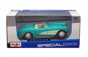 Maisto 1:24 1957 Chevrolet Corvette - tyrkysově modrá barva