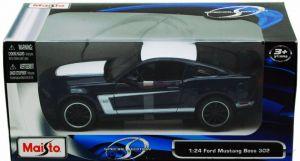 Maisto 1:24 Ford Mustang Boss 302 GT - černá matná barva