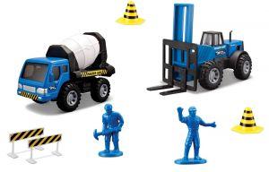 Maisto  22326 - Sada stavební silniční práce - modrá  sada
