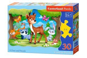 Puzzle Castorland  30 dílků - Jelínek a kamarádi  03570