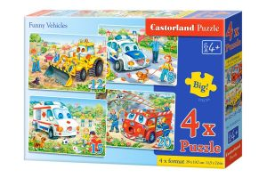 Puzzle Castorland 4v1 = 8-20 dílků  Dopravní prostředky   04324