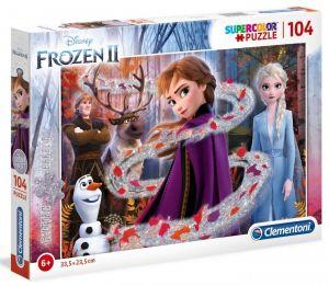 Puzzle Clementoni  - 104 dílků  brokát -  Frozen  II - Ledové království 20162