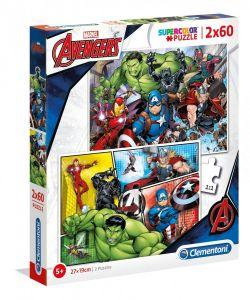 Puzzle Clementoni 2 x 60  dílků  - Avengers    21605