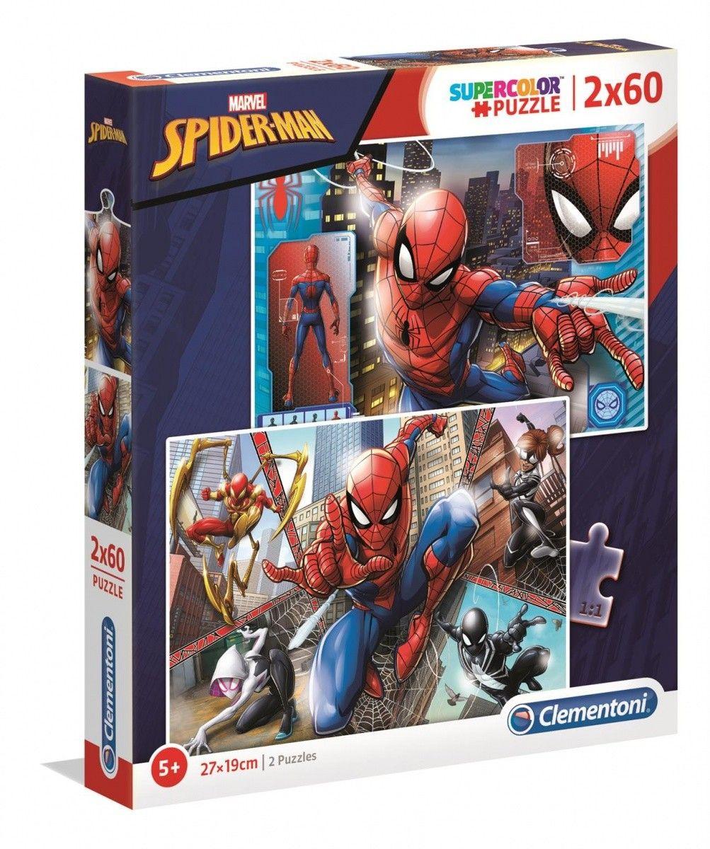Puzzle Clementoni 2 x 60 dílků - Spiderman 21608