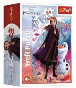 Puzzle mini 54 dílků - Trefl - Frozen II - ve světě Anny a Elsy 19638