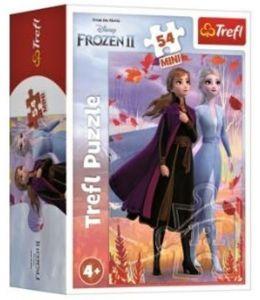 Puzzle mini 54 dílků - Trefl - Frozen II - ve světě Anny a Elsy 19639