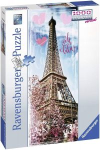 puzzle Ravensburger 1000 dílků  panorama  -  Eiffelova věž  151035