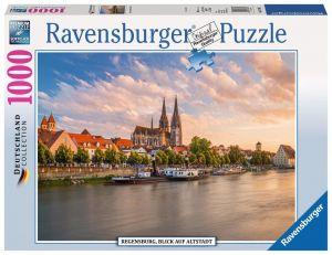 Puzzle Ravensburger 1000 dílků - Regensburg - staré  město 197811
