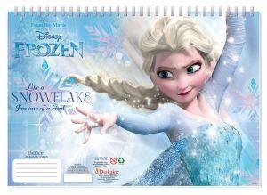 Set omalovánek + nálepek + skicák  -  Frozen
