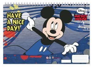 Set omalovánek + nálepek + skicák  -  Mickey Mouse