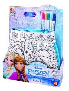 Taška  k vymalování + 5 fixů  L - Frozen - Ledové království