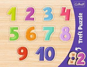Trefl vkládačka   Číslice -  10 dílků