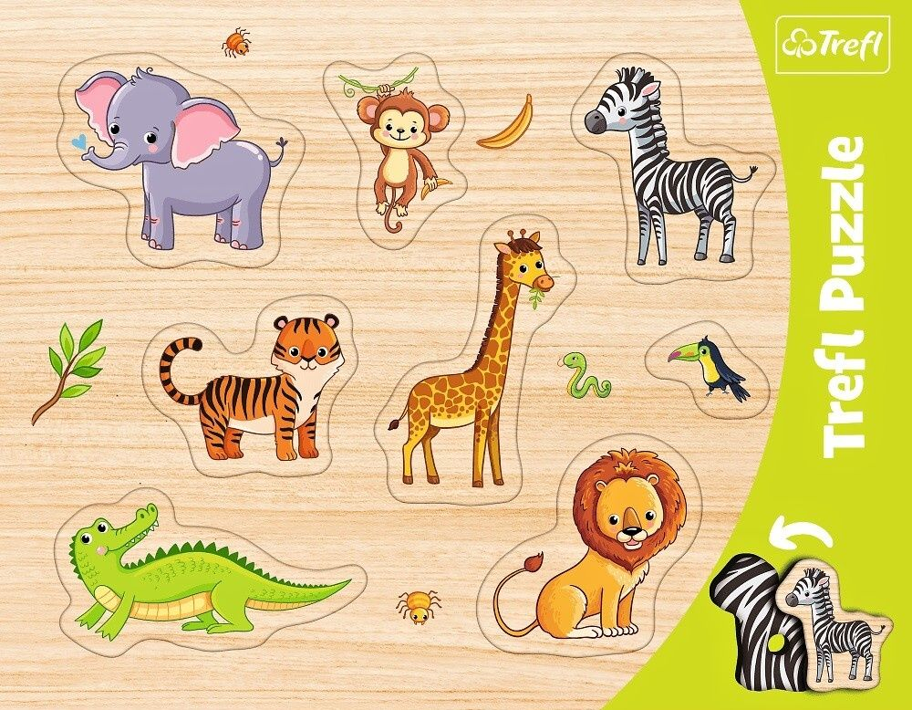 Trefl vkládačka Zvířátka safari - 8 dílků
