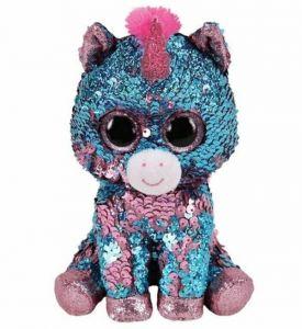 TY Beanie Boos Flippables - Celeste - modro růžový jednorožec  36798 - 24 cm plyšák
