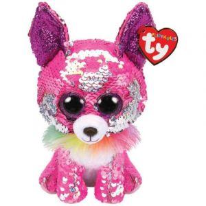 TY Beanie Boos Flippables - Charmed  - růžová čivava   36341 -  15 cm plyšák