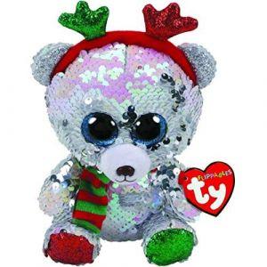 Beanie Boos Flippables - Mistletoe - vánoční medvídek s parůžkama   36337 -  15 cm plyšák