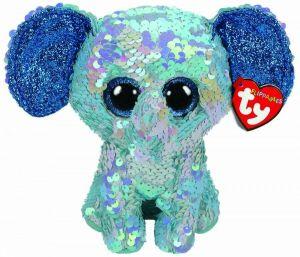 TY Beanie Boos Flippables - Stuart - modrý sloník  36344 -  15 cm plyšák