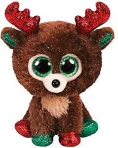 TY Beanie Boos - Fudge - tm. hnědý sob  36684 - 15 cm plyšák