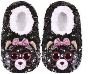 TY plyšové papuče  s flitry  - kočička  Kiki - vel. S   95500