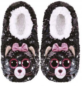 TY plyšové papuče  s flitry  - kočička KIKI  - vel.L   95560