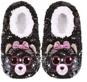TY plyšové papuče  s flitry  - kočičky KIKI  - vel.M   95530
