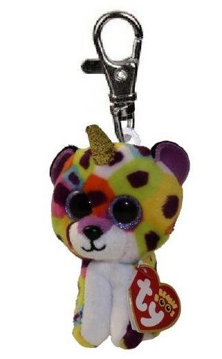 TY - Plyšový přívěšek - Giselle - leopard s rohem s velkýma očima 8,5 cm TY Inc. ( Meteor )