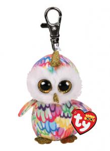 TY - Plyšový přívěšek - sova s  rohem Enchanted  s velkýma očima  8,5 cm